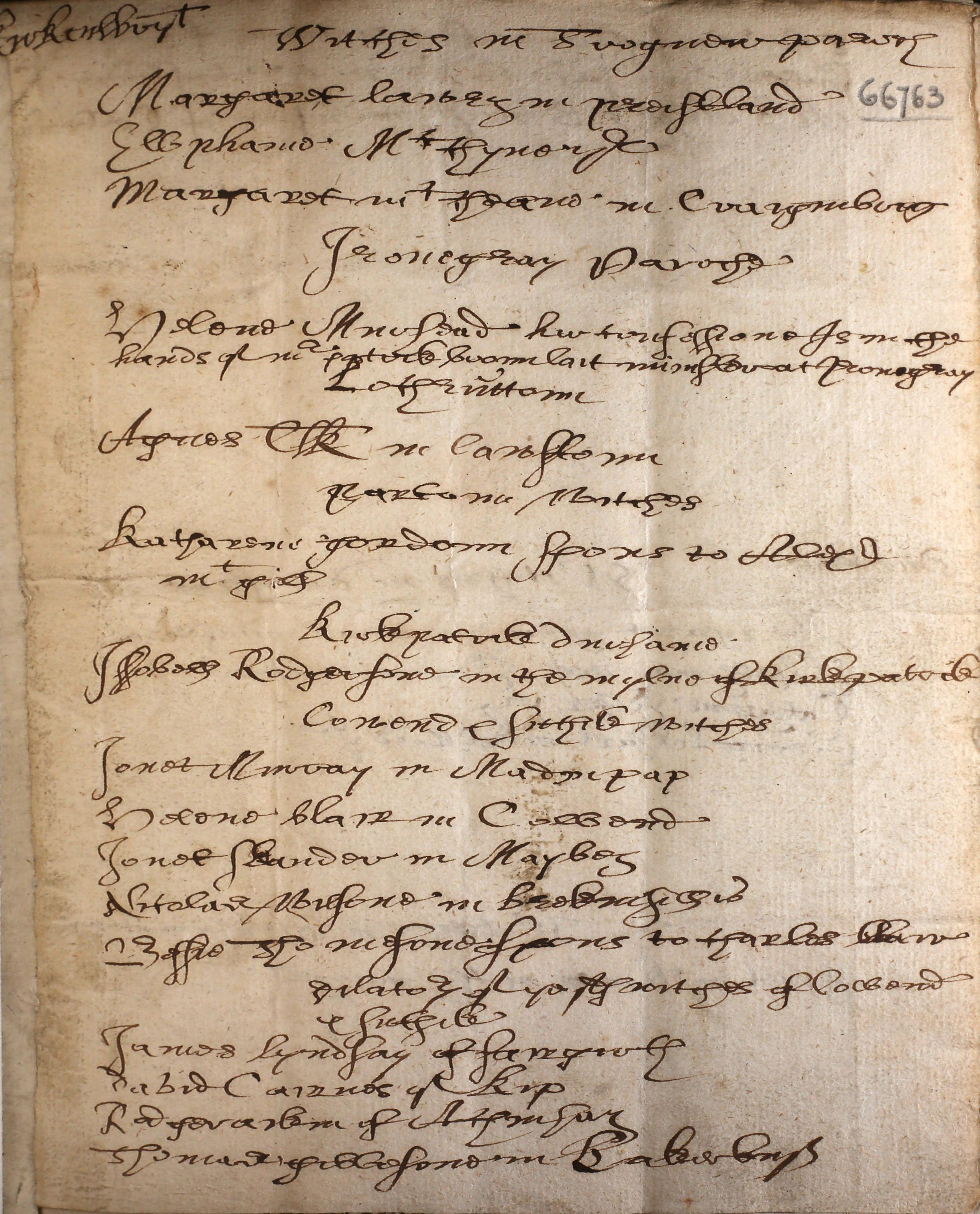 Names of the witches (in Scotland) 1658 - Welcome Library