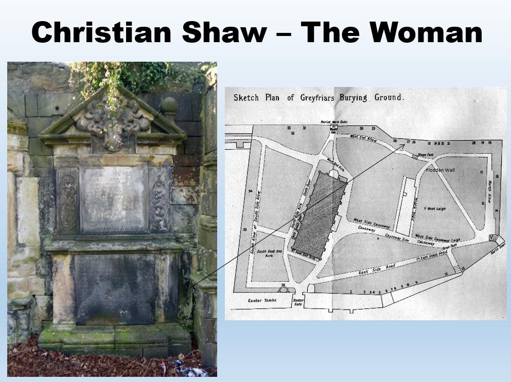 Christian Shaw buirial site in EdinburghE