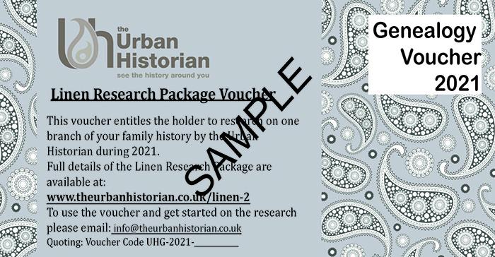 Genealogy Linen Research Voucher 2021
