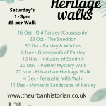 Autumn & Winter Heritage Walks 2021